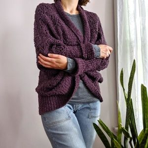 Anthropologie Chunky Knit Oversized Cardigan Small